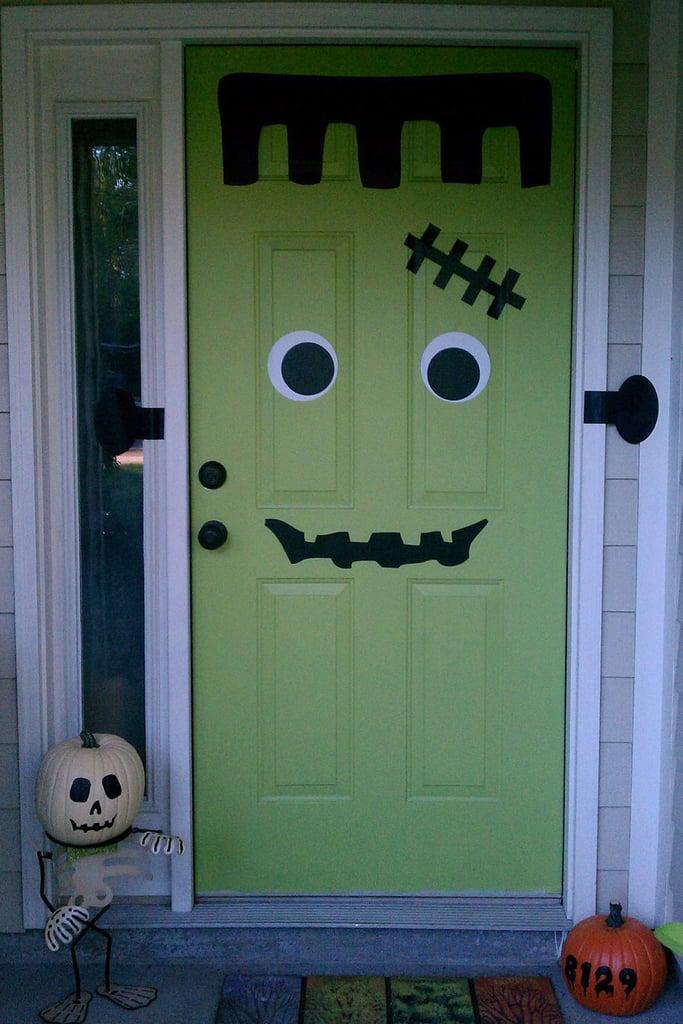 Frankendoor Halloween Decal