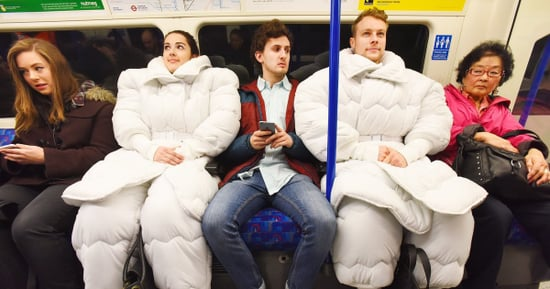 We're So *Down* With These Suits Made Out Of Duvets