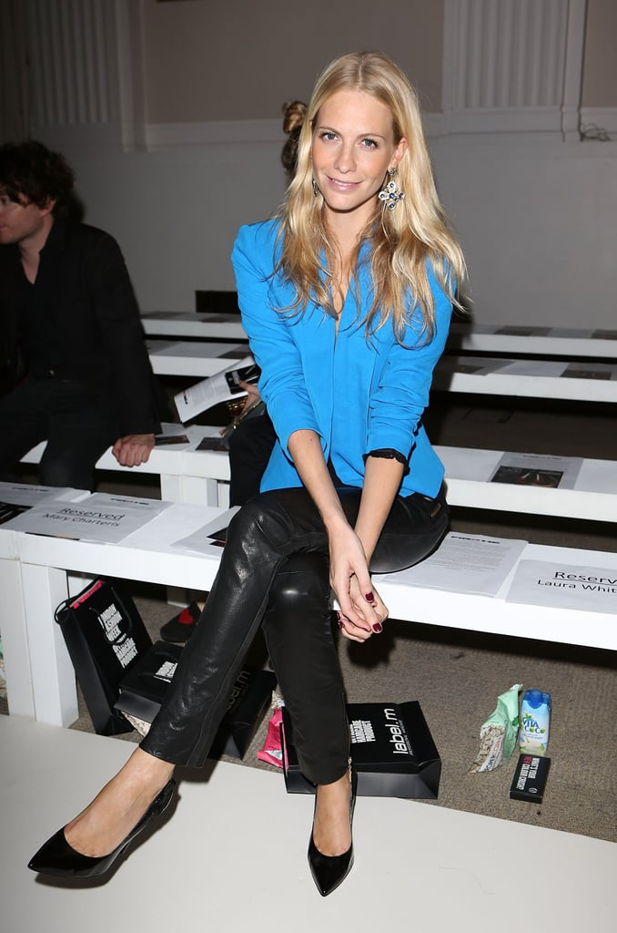 Poppy Delevingne took a front-row seat at the Pinghe show.