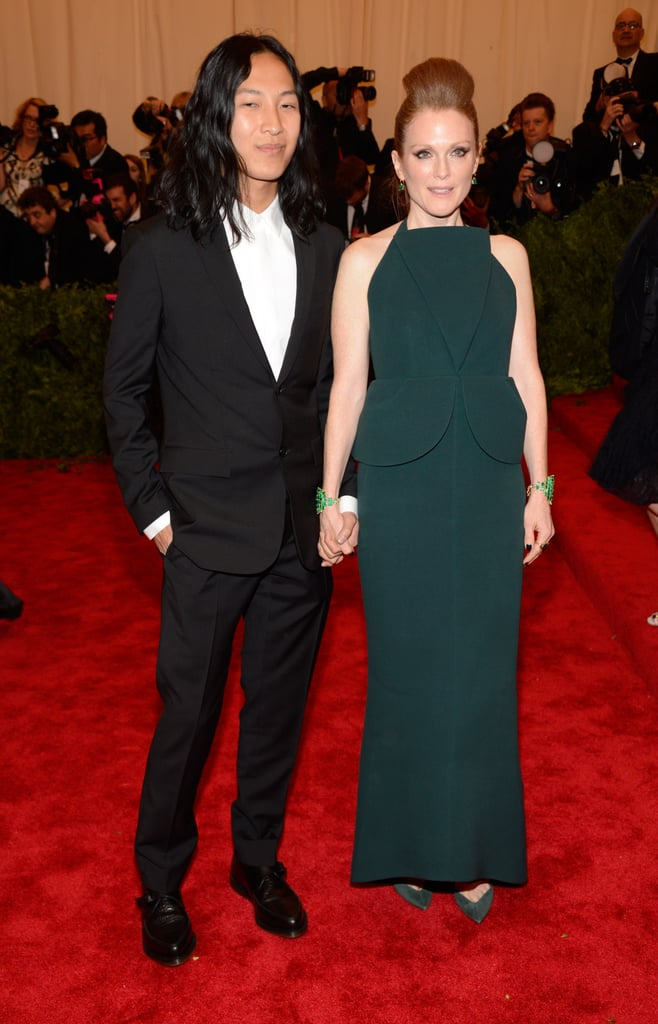 Julianne Moore hung out with designer Alexander Wang.