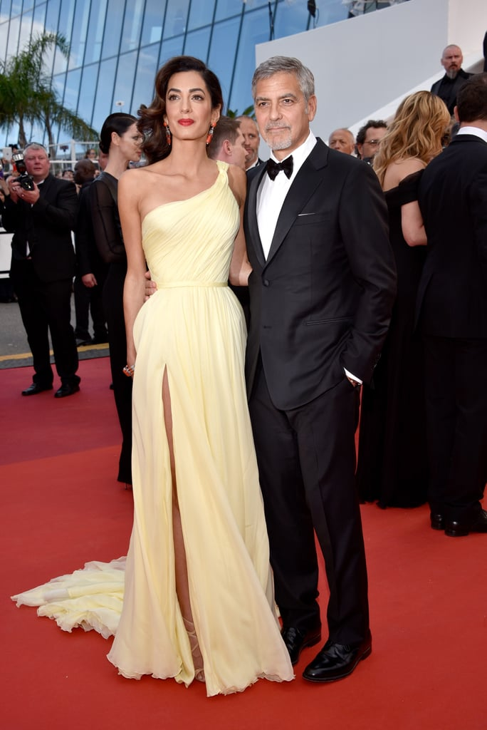 Amal and George Clooney in Versace