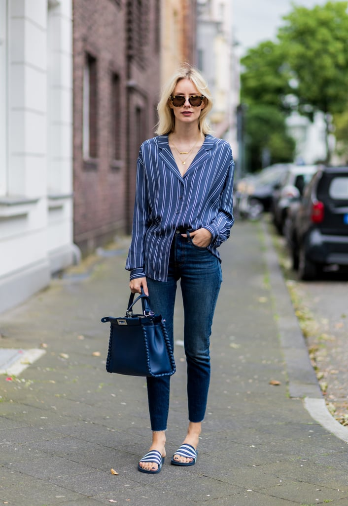 With easy slides and a casual button-down