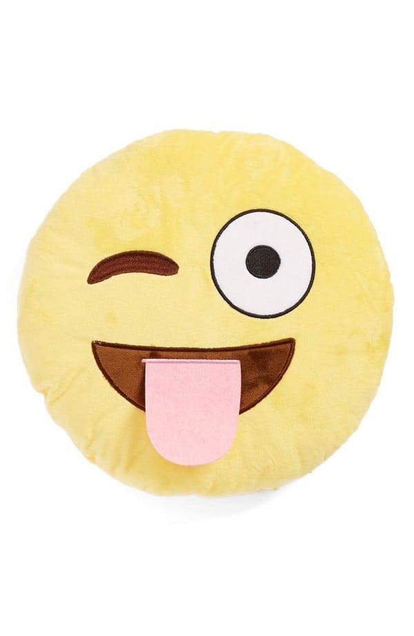 Top Trenz Wink Tongue Emoji Pillow