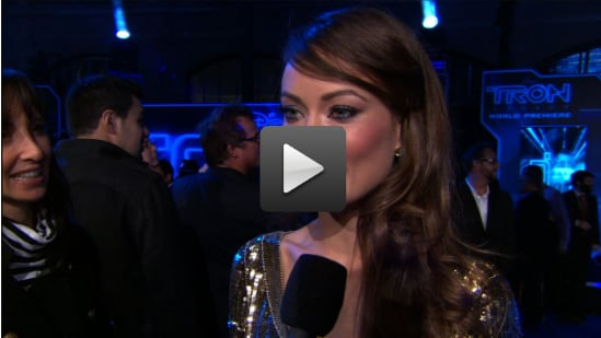 Video of Olivia Wilde and Jeff Bridges at the Tron: Legacy Premiere in LA