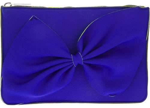 Leghilá bi-colour bow clutch