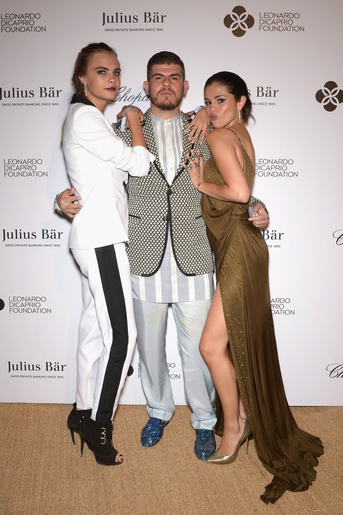 Cara and Selena cozied up with Eli Mizrahi.