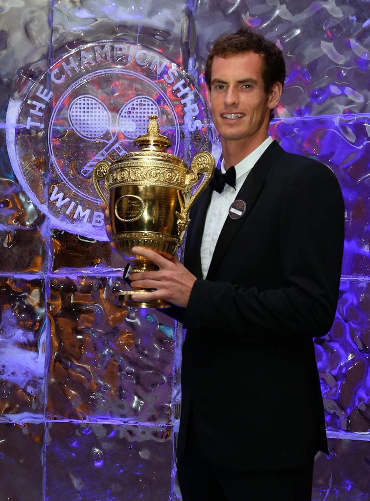 And here's the winner! Andy Murray became the first British Wimbledon winner in 77 years, prompting some serious celebrations across the United Kingdom. Here he is with his trophy on July 7, at the 2013 Winners Ball.