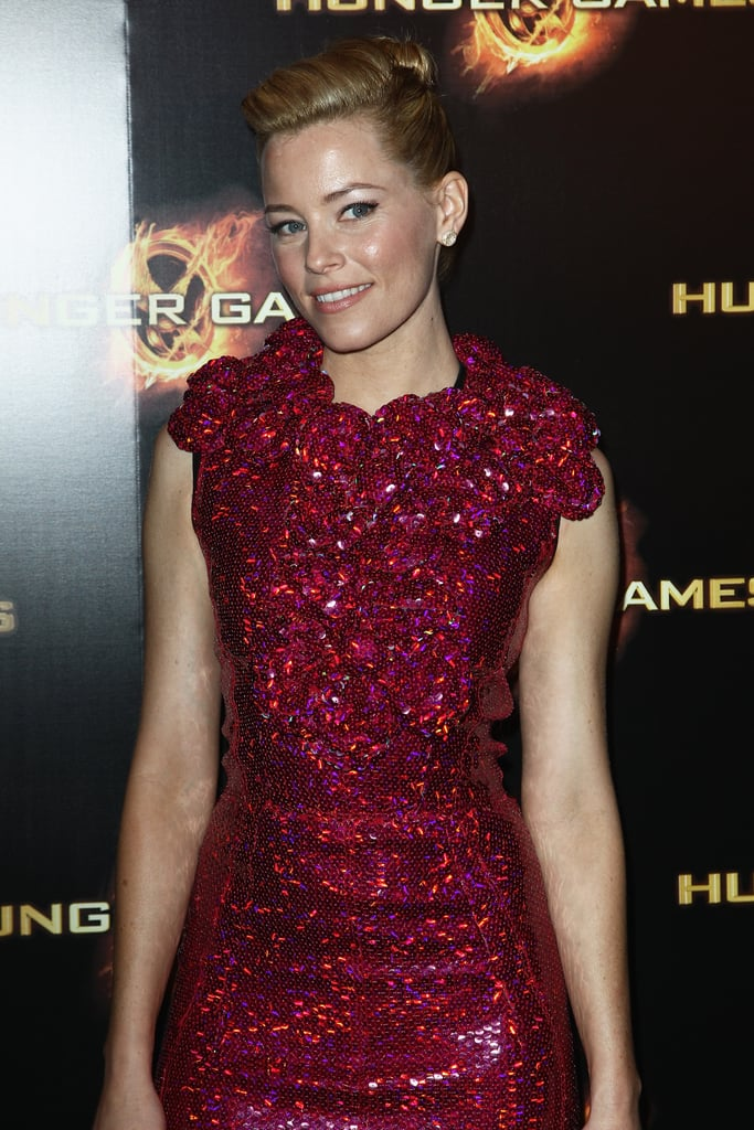 Elizabeth Banks at The Hunger Games premiere in Paris.