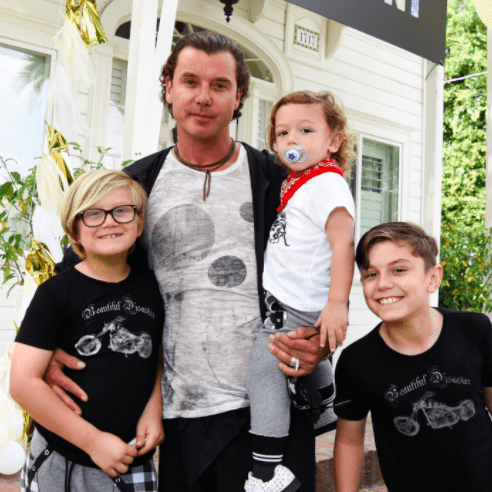 Gavin Rossdale and Kids Easter Egg Hunt March 2016