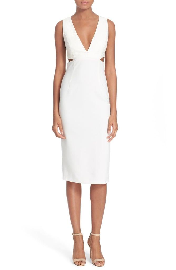 Alice + Olivia Riki Leather Body-Con Dress ($598)