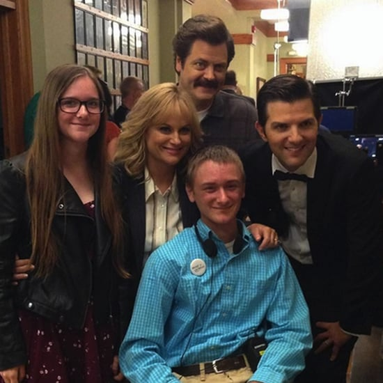 Parks and Recreation Cast With a Make-A-Wish Kid | Photos