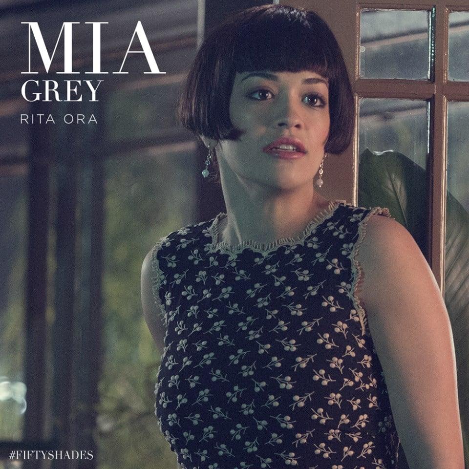 Here's Rita Ora as Mia Grey, Christian's adopted sister.