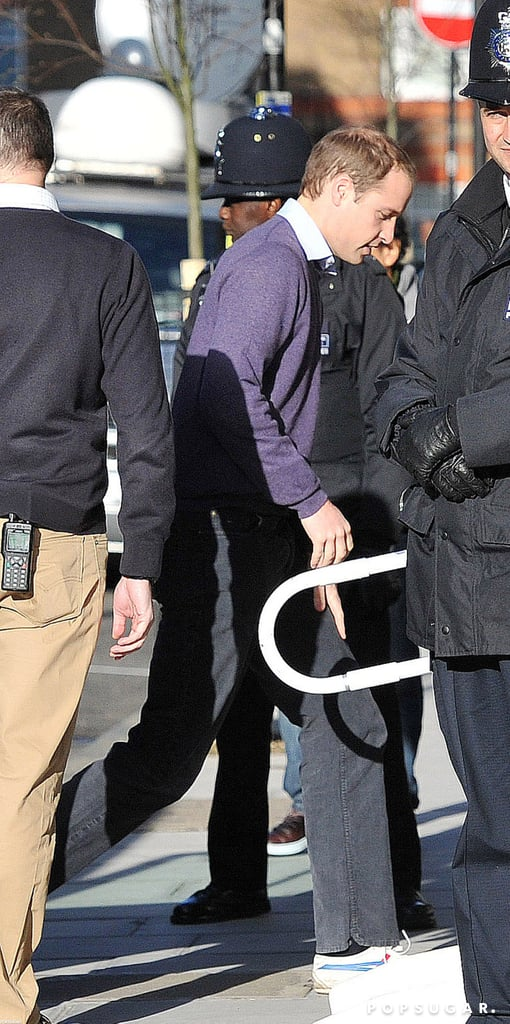 Prince William arrived at the hospital to see Kate Middleton.