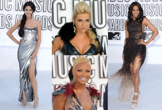 Pictures of Kesha, Ciara, Selena Gomez, and Eva Marcille at the 2010 MTV VMAs