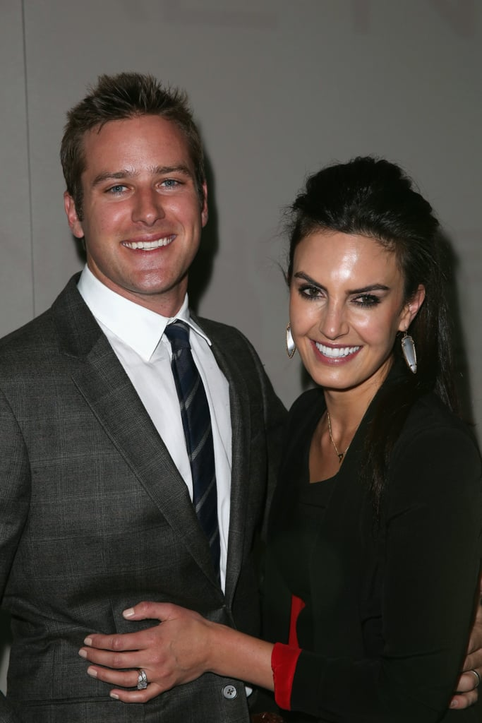 Armie Hammer and his wife, Elizabeth Chambers, smiled big backstage at the Kenneth Cole show in NYC in February.