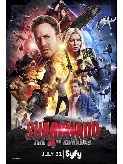 What Happens in Sharknado ... New 4th Awakens Trailer Shows a Chippendales Dancer Pelvic-Thrusting a Shark into Oblivion