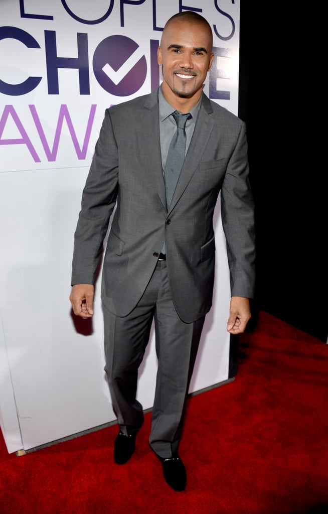 Shemar Moore looked dapper in a gray suit on the red carpet.