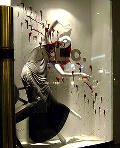 Freaky or Fabulous: Barneys' Bloody Window Display