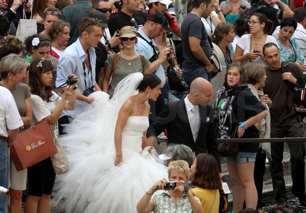 A wedding took place during the couple's trip to Rome.