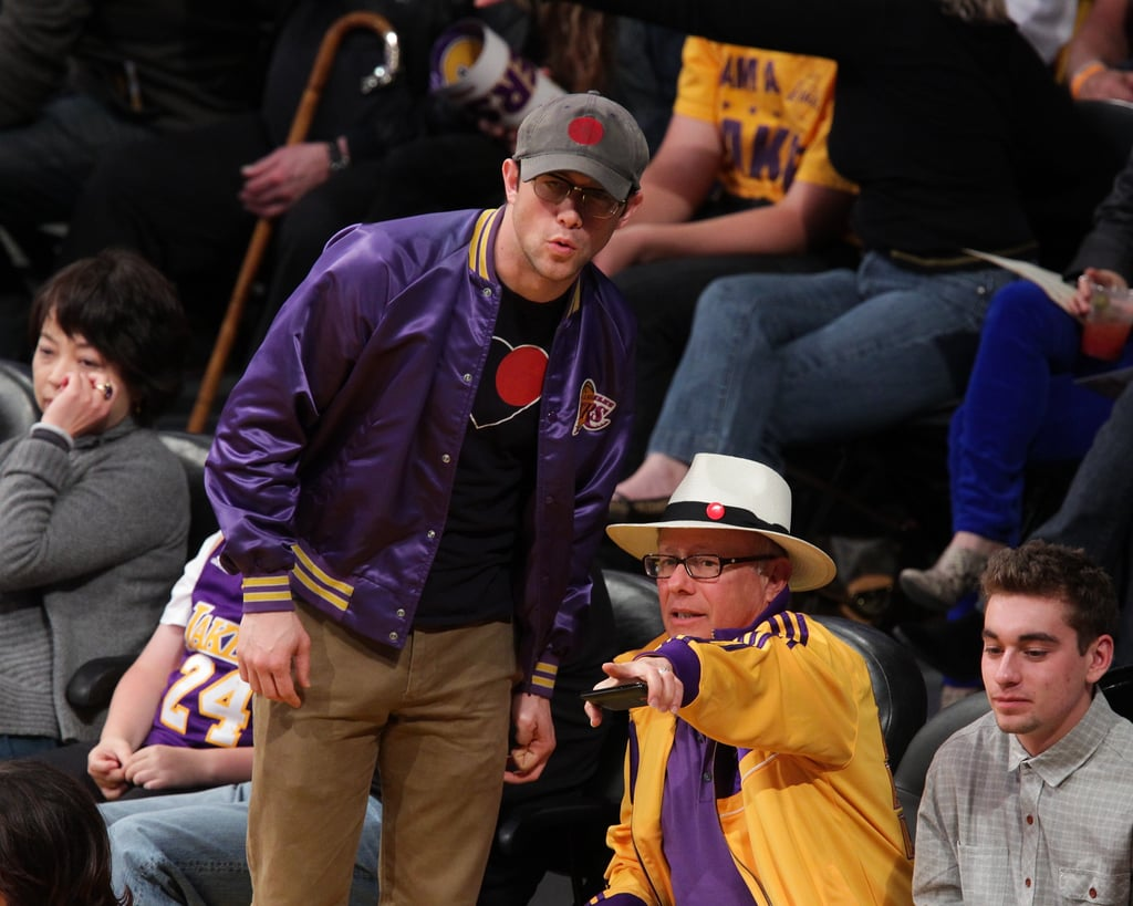 Joseph Gordon-Levitt wore a Lakers jacket.