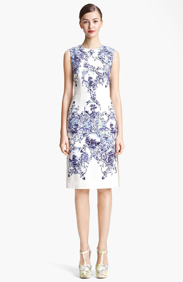 """An investment for sure, but this Erdem Milandes print crepe back satin sheath dress ($1,750) is the kind you'll wear season after season. The classic silhouette and gorgeous print will always be """"in."""""""