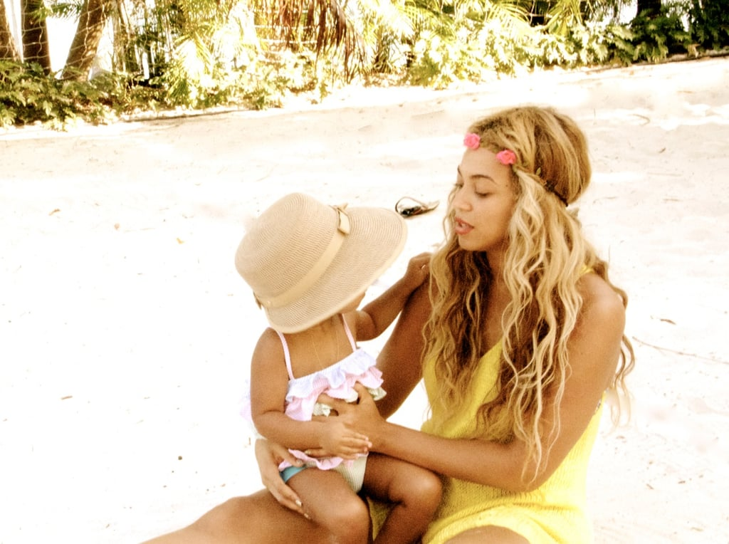 Beyoncé Knowles hit the beach with Blue Ivy Carter and shared this adorable photo. Source: Tumblr user Beyoncé Knowles