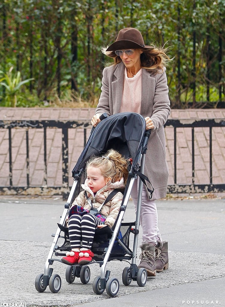 Sarah Jessica Parker pushed Tabitha Broderick in a stroller.