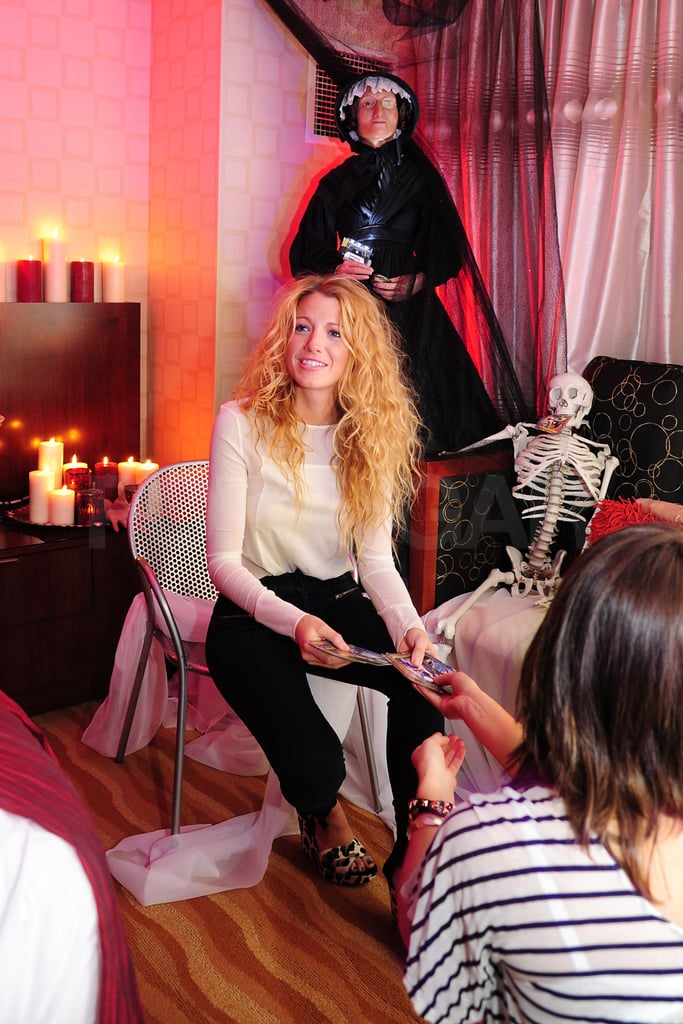 Blake Lively was the guest of honor in NYC today at Madame Tussauds Halloween suite.