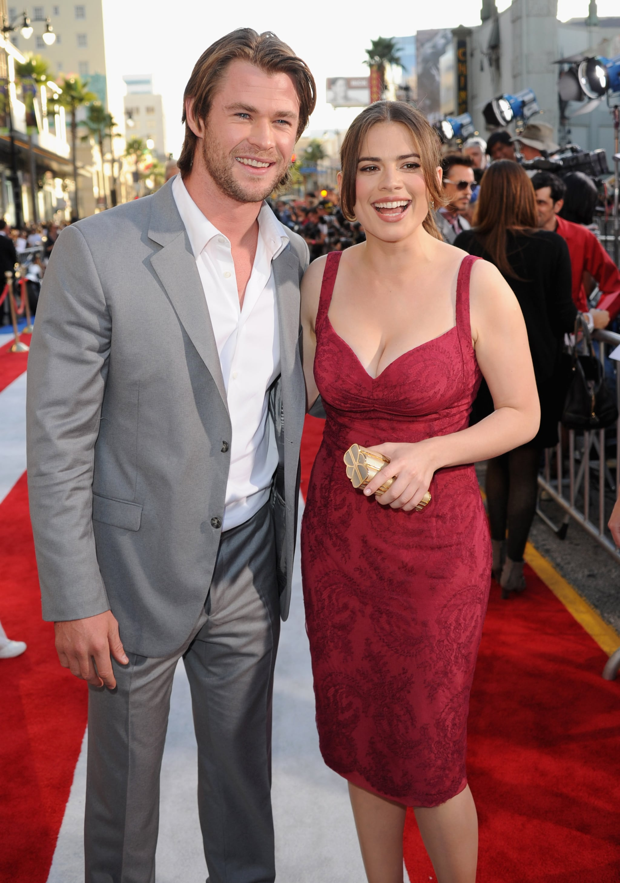 Chris Hemsworth and Hayley Atwell