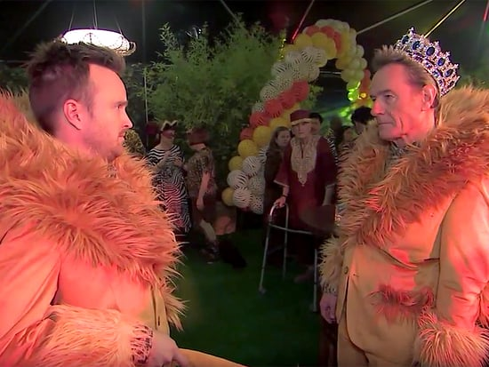 "Bryan Cranston Spoofs My Super Sweet 16, Throws a ""Super Sweet 60"" with Lions, Crowns and Aaron Paul"
