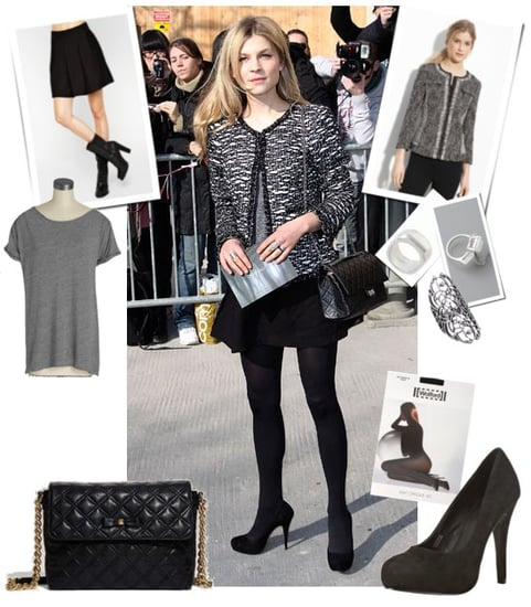 Pictures of Clemence Poesy at Paris Fashion Week