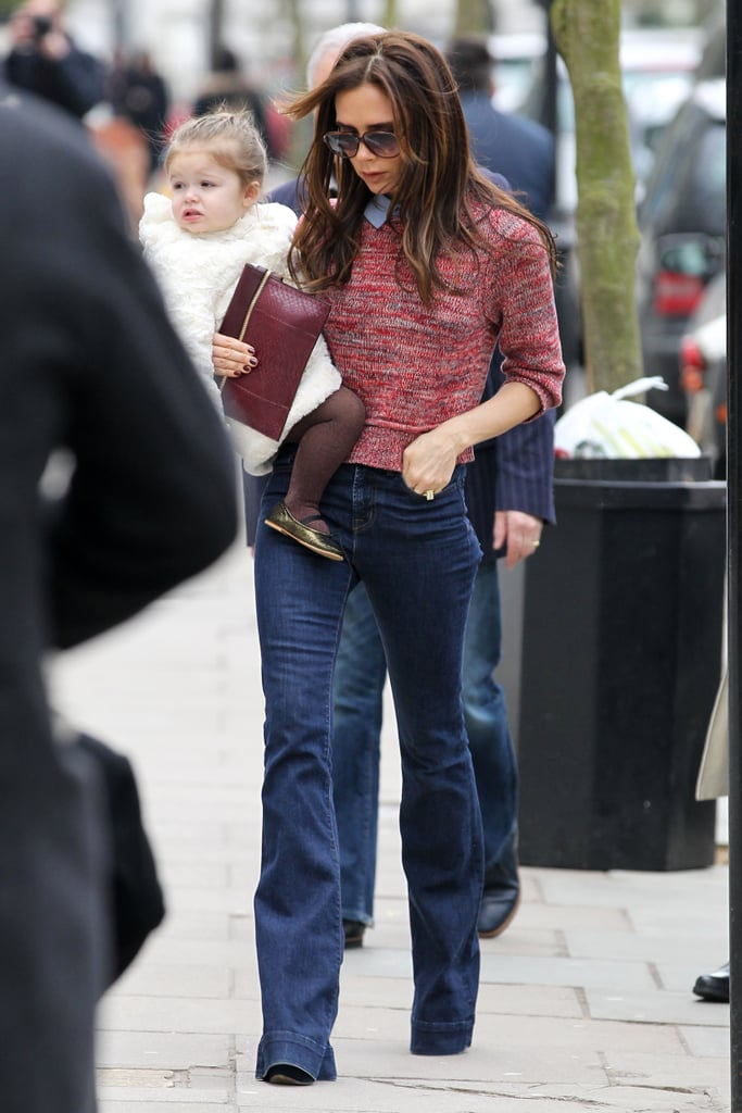 Harper and Victoria were out and about in London in March 2013.
