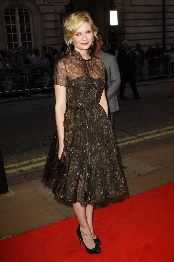 Kirsten Dunst walks the red carpet at the London premiere of Melancholia on Sept. 28.