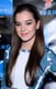 At the Summit Entertainment Red Carpet Press Event, Hailee Steinfeld dusted her eyelids with electric blue shadow that matched her patterned top.