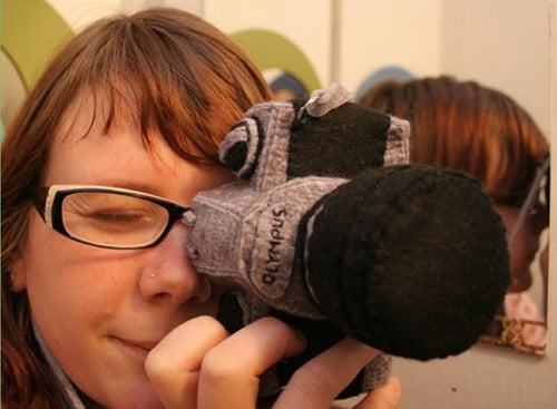 Totally Geeky or Geek Chic? Plush Camera Case