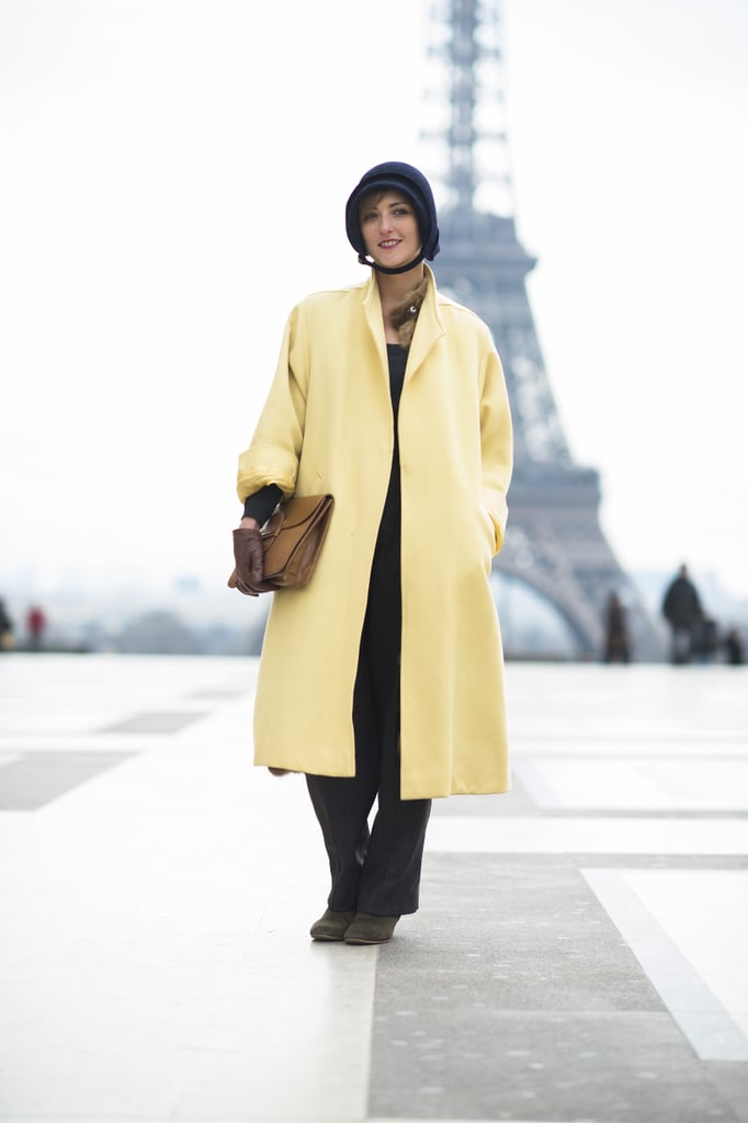 The softest shade of yellow and the perfect shade of navy made this all about the beautiful color combination.  Source: Le 21ème   Adam Katz Sinding