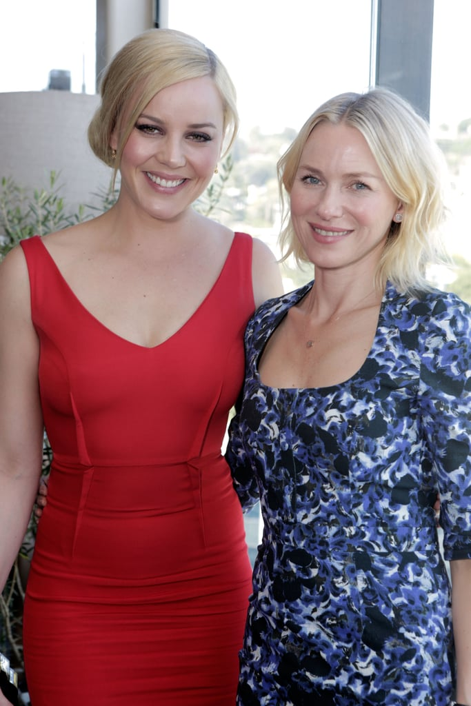 Abbie Cornish paired a chignon with some on-trend gray eye shadow, while Naomi Watts's neutral makeup kept the focus on her new lob haircut.