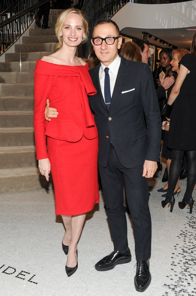 Lauren Santo Domingo and Gilles Mendel at the opening of the Madison Avenue J. Mendel boutique.