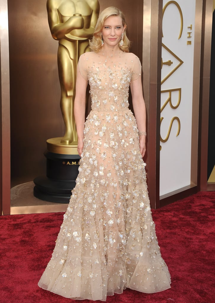 Cate Blanchett in Armani Privé at the 2014 Oscars