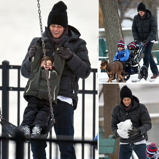 Tom Brady and His Boys Have an Adorable Snow Day
