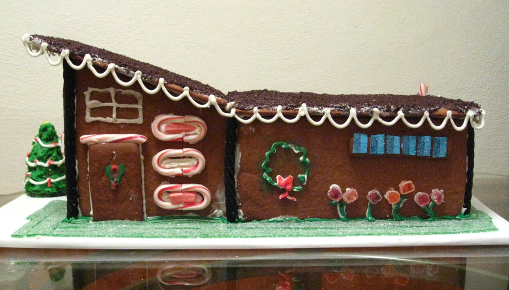 Mid-Century Modern Gingerbread House