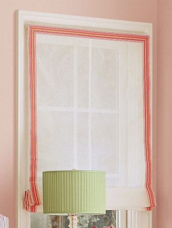 Steal of the Day: Grosgrain-Ribbon Roman Shade