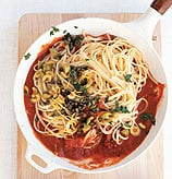 Fast & Easy Dinner: Linguine with Caper & Green Olive Sauce