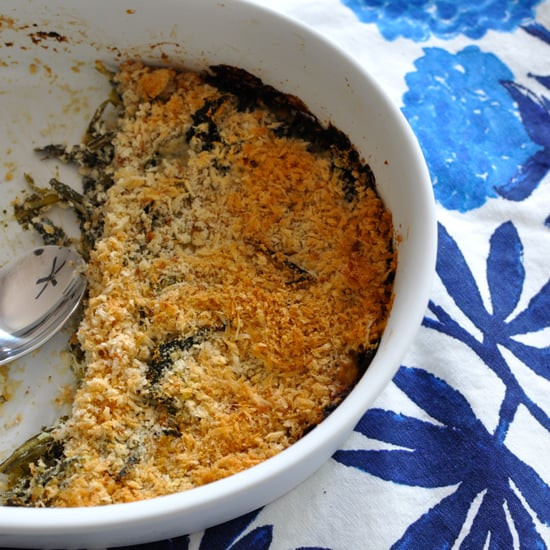 Creamy Dandelion Greens With Goat Cheese Gratin Recipe