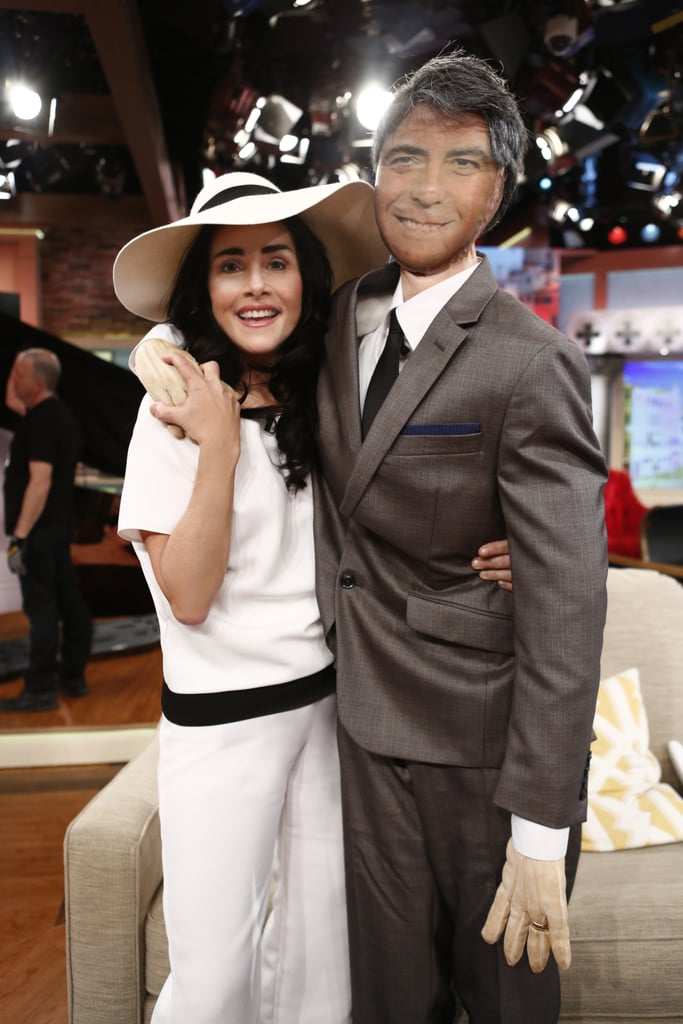 Meredith Vieuira as Amal and George Clooney in 2014