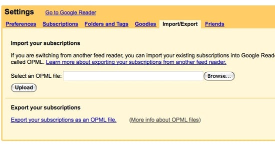 How to Export Your Feeds From One RSS Reader to Google Reader