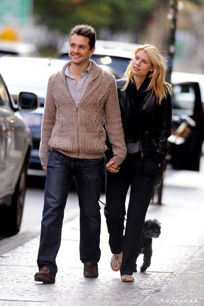Hugh Dancy and Claire Danes took their dog for a walk in NYC.
