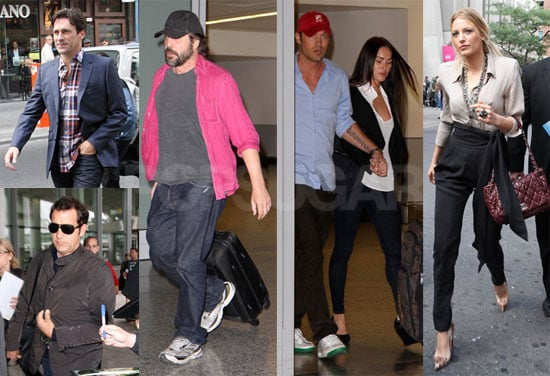 Pictures of Blake Lively, Jon Hamm, Jeremy Renner, Javier Bardem, Clive Owen, Megan Fox, Brian Austin Green Arriving For TIFF