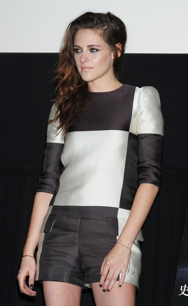 Kristen Stewart promoted Breaking Dawn Part 2 in Japan.