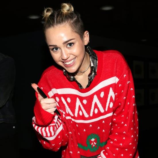 Miley Cyrus Buns at Jingle Ball 2013